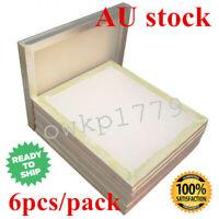 6 PACK-45cm x 50cm Aluminum Frame Screen Printing Screens 160 White Mesh