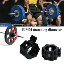 1 Pair 50mm Collars Barbell Lock Clips Clamp Weight Lifting Bar Gym Fitness Body