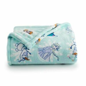 Disney Frozen Anna Elsa Olaf The Big One Plush Throw Blanket Oversized 5' x 6'