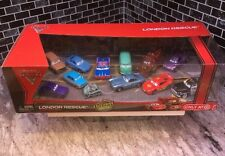 💥DISNEY CARS LONDON RESCUE W/ CAPTURED PROFESSOR Z, BOMB MATER, CRUMLIN 12 PACK