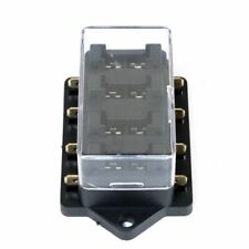 HOLDER BOX 4 WAY CAR VEHICLE CIRCUIT AUTOMOTIVE BLADE FUSE BLOCK BLACK CASE SET