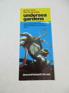 Undersea Gardens Newport Oregon Underwater Show Travel Guide Map Brochure~BR3