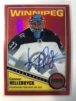 2019-20 Connor Hellebuyck Red Rainbow Autos OPC O-PEE-CHEE Platinum Retro