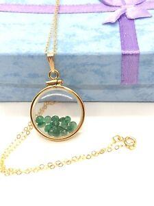 Handmade Emerald Shaker Locket 14k GF or Sterling Silver, Custom 4 Mother's Day