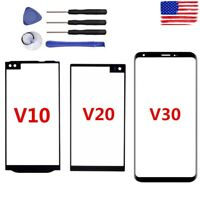 For LG V10 V20 V30 Replacement Outer Front Glass Lens Screen Display + Tools US