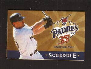 San Diego Padres--Phil Nevin--2004 Pocket Schedule--SBC