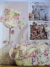 Sewing Pattern McCall's 5438 Easter Hat Handbag Totes & Cell Phone Case