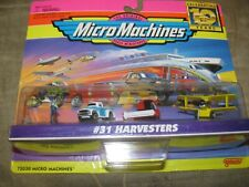 #31 HARVESTERS Micro Machines combine 56 Pickup Crop Duster 1 farmer missing