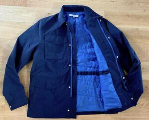 """Orlebar Brown Duncan Jacket Coat Navy Blue Lightly Padded Med 38-40"""" £395 New"""