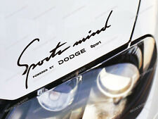 Dodge Sports Mind Sticker for Bonnet RAM Charger Challenger SRT Journey