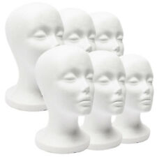 Female Mannequin Head Display Stand For Wigs, Glasses, Scarves, Hats Plastic