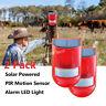 2 x Solar Powered Alarm Light Wireless Waterproof Motion Sensor Garden Security