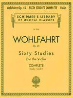 Franz Wohlfahrt 60 Studies Op. 45 Complete Books 1 and 2 for Violin St 050485504