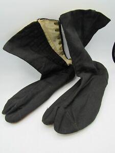VINTAGE Black JAPANESE Ninja TABI Shoes SPLIT Toe BOOTS Shoes