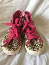 Circo Pink Glitter Sparkle Leopard Print High Top Zipper Toddler Shoes Size 9