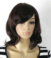Hot Sell Fashion Sexy Dark Brown Curly Women Lady Medium Hair Wig Wigs + Wig Cap