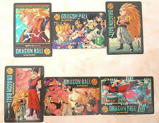 6pcs Complete Original Dragonball Z Card/Sticker/Collection (1995,made in Japan)