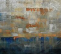 """Large Painting Original Acrylic Abstract Art On Canvas by Hunoz 33"""" x 37"""""""