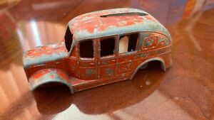 VERY OLD VINTAGE MECCANO DINKY TOYS RED DIECAST CAR BODY UPPER SHELL AS PICS