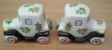 Classic Car Salt & Pepper Shaker Set Model A style with Flower Power