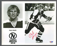 Paul Shmyr signed Minnesota North Stars team issued photo Psa-Dna