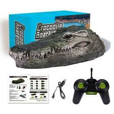 2.4G Rc Electric Boat High Speed Racing Remote Control Crocodile Head Spoof Toy