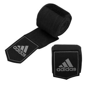 Adidas Boxing Hand Wraps 450cm Muay Thai MMA Kickboxing Bandages Black AIBA 4.5m