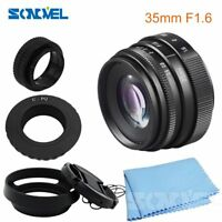 Mini 35mm F1.6 CCTV TV Movie lens+Lens Hood kit  for Pentax Q/Q10/Q7/Q-S1 Camera