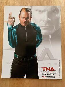 JEFF HARDY OFFICIAL 2010 TNA WRESTLING 8X10 PROMO PHOTO UN-SIGNED WWE ECW AEW