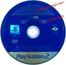 OPS2M DEMO 56 - disc jeux Metal Slug 3 Timespliter console PS2 PlayStation 2 pal