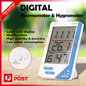 Digital Thermometer Hygrometer Temperature Indoor Outdoor LCD Humidity Meter