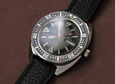 Rare german diver automatic vintage steel 40mm watch NOS Seiko 6105-8000 look