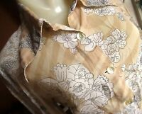 MEDIUM True Vtg 70s FLORAL PRINT SHEER THIN COLLARED SANDY Shirt Top Womens