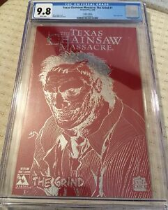 TEXAS CHAINSAW MASSACRE:THE GRIND #1 - LEATHER EDITION- CGC 9.8