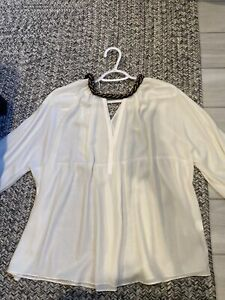 ZARA tunic white blouse necklace top white small