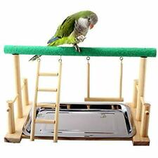 Parrot Playstand Bird Stand Cockatiel Playground Wood Perch Gym Playpen With Pet