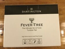 Dartington Fever-Tree Gin & Tonic Tumbler Glasses Brand New Boxed Set of Two