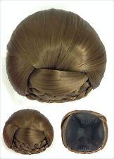 Perfect Braided Hair Bun,Hair Piece, Medium Ash Brown 12#,Bridal Hair Style