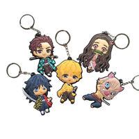 US!Anime Demon Slayer:Kimetsu no Yaiba Character Pendant 3D Rubber Keychain Gift