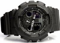 New Casio G-SHOCK BLACK OPS Analog XLARGE BLACK GA100-1A1 Watch NWT