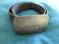 Cintura John Galliano Nero Taglia Singolo - 58%