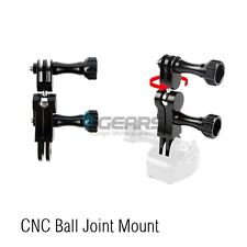 360 CNC Aluminum Ball Joint Mount for GoPro Hero 4 Session HERO 4 Silver 3+ 2 HD