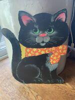 Vintage Eureka HALLOWEEN Die-Cut Party Decoration Black Cat