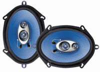 "Pyle PL573BL 3-Wege-Koaxial 300W Lautsprecher 5x7 "" Ford Mazda Blau USA - BERLIN"