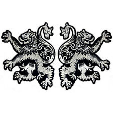 VEGASBEE® 2 TWO LION RAMPANT SCOTTISH HERITAGE CELTIC JACKET SILVER PATCH SET