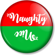 Naughty or Nice Fancy 25mm Pin Button Badge Christmas Santa's List Father Xmas