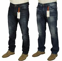 Brand New Mens DML Jeans Straight Leg Blue Casual Denim Trousers Size W30-W38