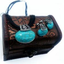 Jewelry Sets Silver Turquoise Necklaces Earrings Accessories Women