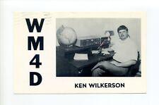 Elizabeth City NC Pasquotank Co, Ken Wilkerson & radio equipment, 1983 card WM4D