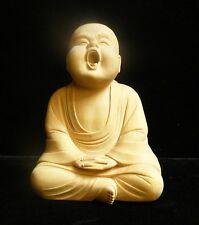 Chinese Oriental Carved Wood Monk Lohon Mini Figure cs603-9